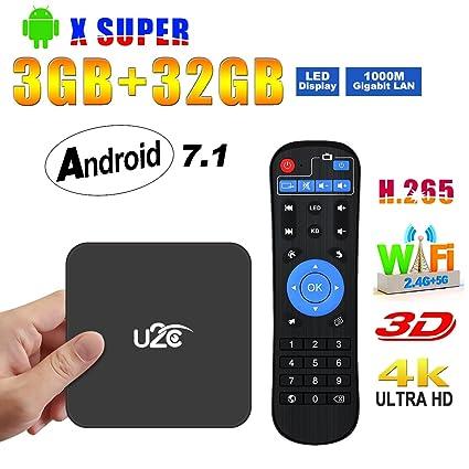 Amazon com: Android TV Box 7 1【3GB RAM+32GB ROM】 2018 Amlogic S912