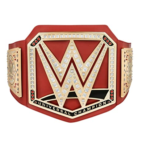 0f498e98c Amazon.com: WWE Universal Championship Toy Title Belt 2017 in No Color  Gold: Sports & Outdoors