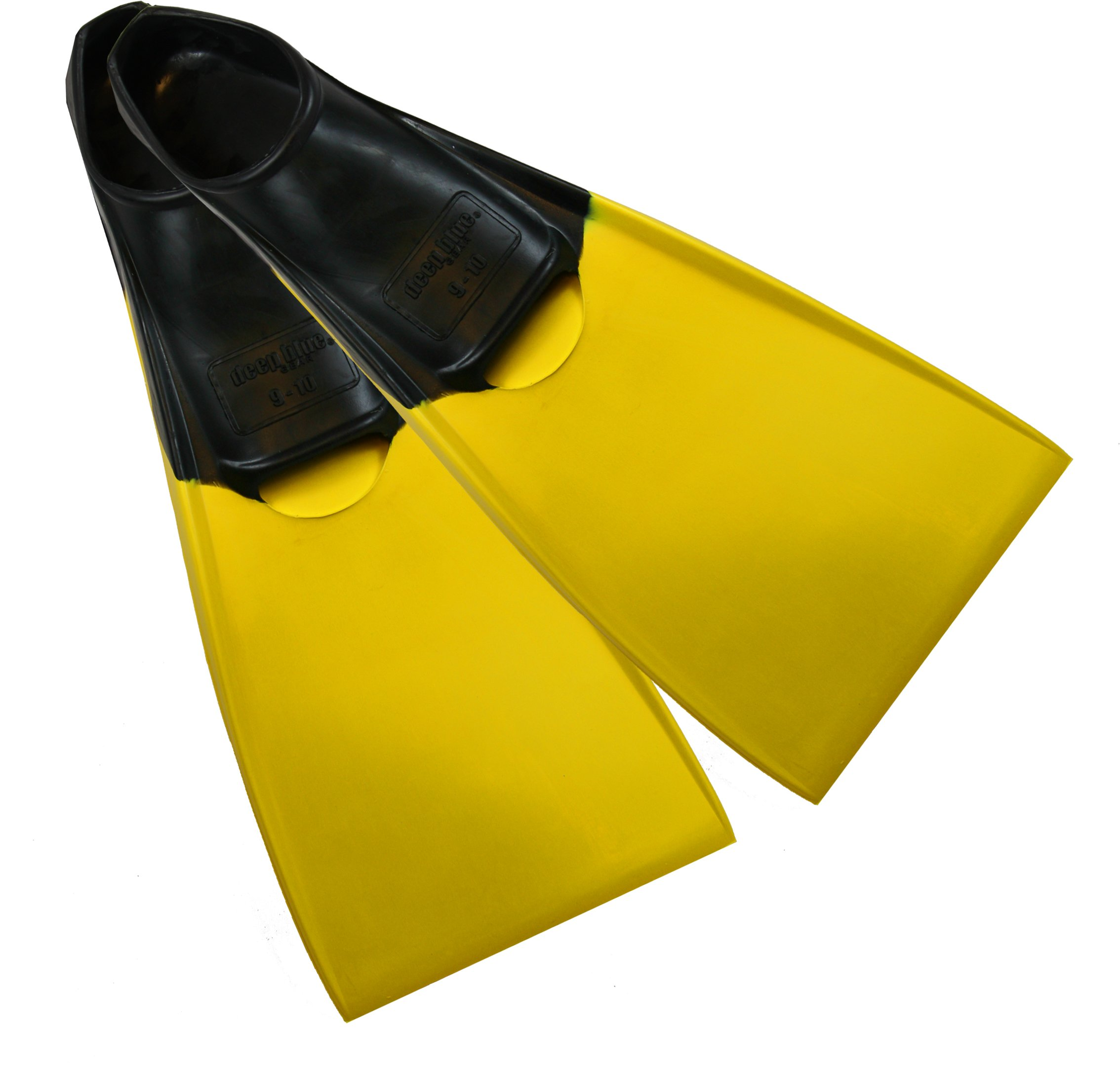 Deep Blue Gear Aquanaut II Fins for Diving, Snorkeling, and Swim, Adult Size 9-10, Yellow
