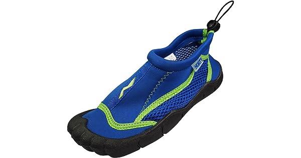 559badf1f NORTY Girls Skeletoe Mesh Waterproof Athletic Aqua Socks for Pool Beach,  Royal, Lime 39877-4MUSBigKid