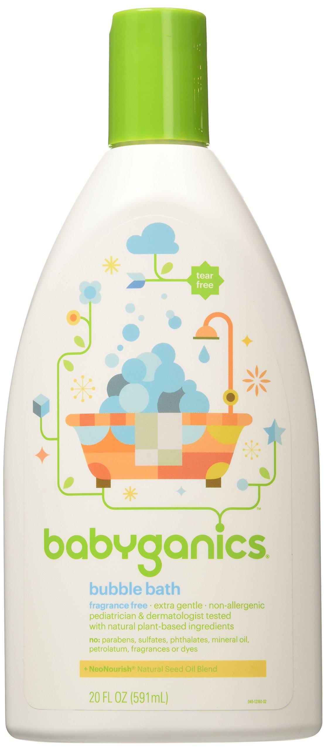 Babyganics Bubble Bath Bundle,  20 Oz Bottles,  Fragrance Free (Pack of 2) by Babyganics