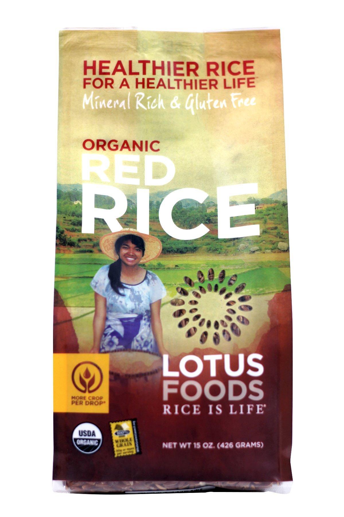 Lotus Foods, Heriloom Bhutan Red Rice, Gluten Free, 15 oz