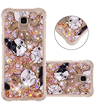 e5af7980a1 COTDINFOR Galaxy J6 2018 Phone Liquid Case for Girls 3D Cute Glitter Liquid  Floating Bling Quicksand