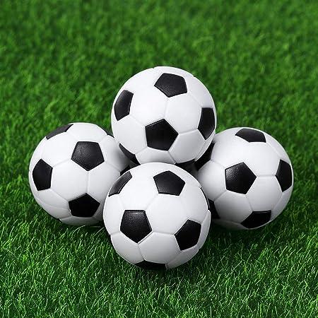 Vientiane 9 Piezas Mini 32 mm Mesa Futbolín, Balones de Fútbol, Pelota de Recambio de Protección Ambiental de Plástico para Juego de Juguete Infantil (Blanco Negro): Amazon.es: Juguetes y juegos