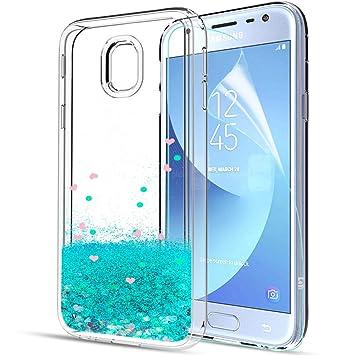 fa5558127d9 LeYi Compatible con Funda Samsung Galaxy A3 2017 con HD Protectores de  Pantalla,Silicona Purpurina