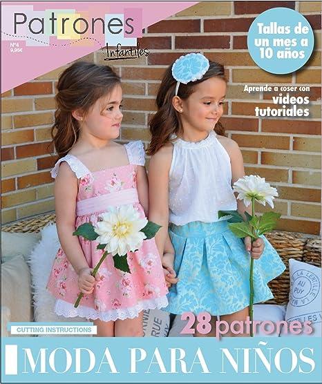 Revista patrones de costura infantil, nº 4. Moda Primavera-verano ...