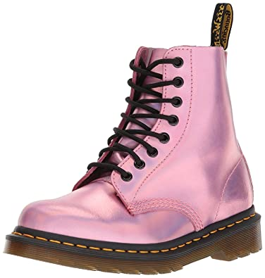 6ffba2aea4bfe Dr Martens 1460 Pascal IM Pink Metallic Womens Leather Boots  Amazon ...