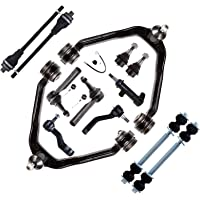 SCITOO 8PC Front Upper Control Arms Lower Ball Joints Inner Outer Tie Rod Ends Suspension Kit Compatible fit 2007-2014 Chevolet GMC