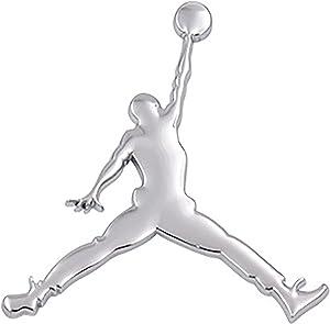 Vinstickers - Jordan 3D Metal Emblem - Best for car, Trucks, laptops and at Home Badges and Stickers (Silver)