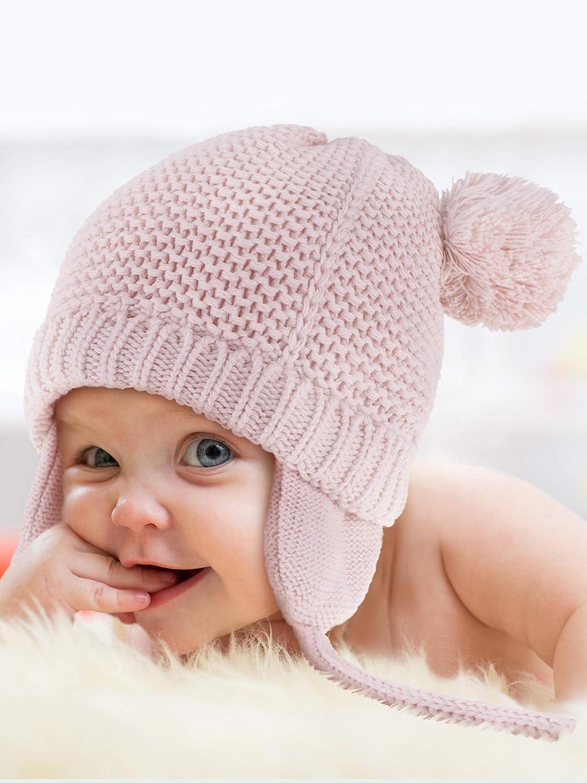 2 Pezzi Bambino Berretto Neonato Cappelli a Maglia in Pelliccia Foderato Animali Forma Berretti con Paraorecchie per Ragazzi e Ragazze Forniture