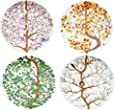 Puhlmann 4 Seasons Plates, Multi-Colour, Set of 4
