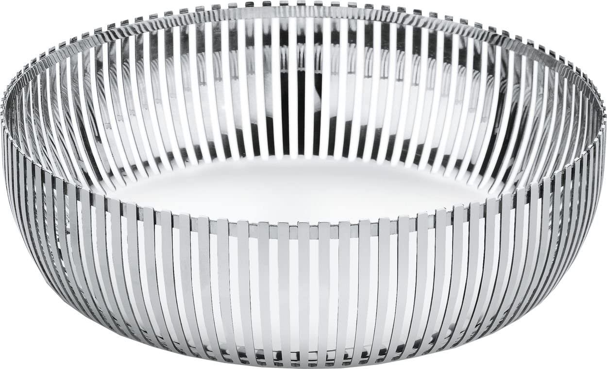 Silver Alessi PCH02//23 Round Basket