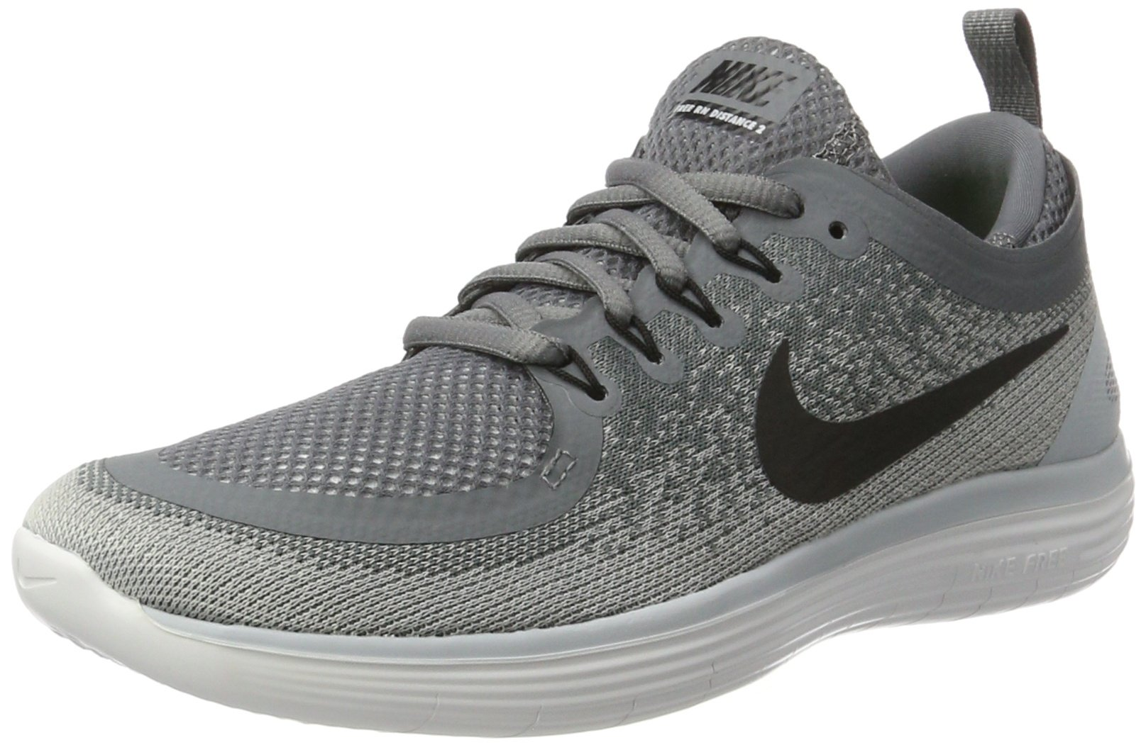 best service c1be0 426ff Galleon - Nike Womens Free RN Distance 2 Cool Grey Black Wolf Grey Running  Shoe 6.5 Women US