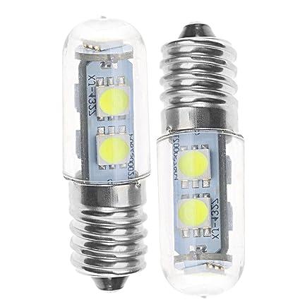 ENET 2 x E14 luz Blanca Fría 1 W 7 LED 220 V Mini Bombilla de