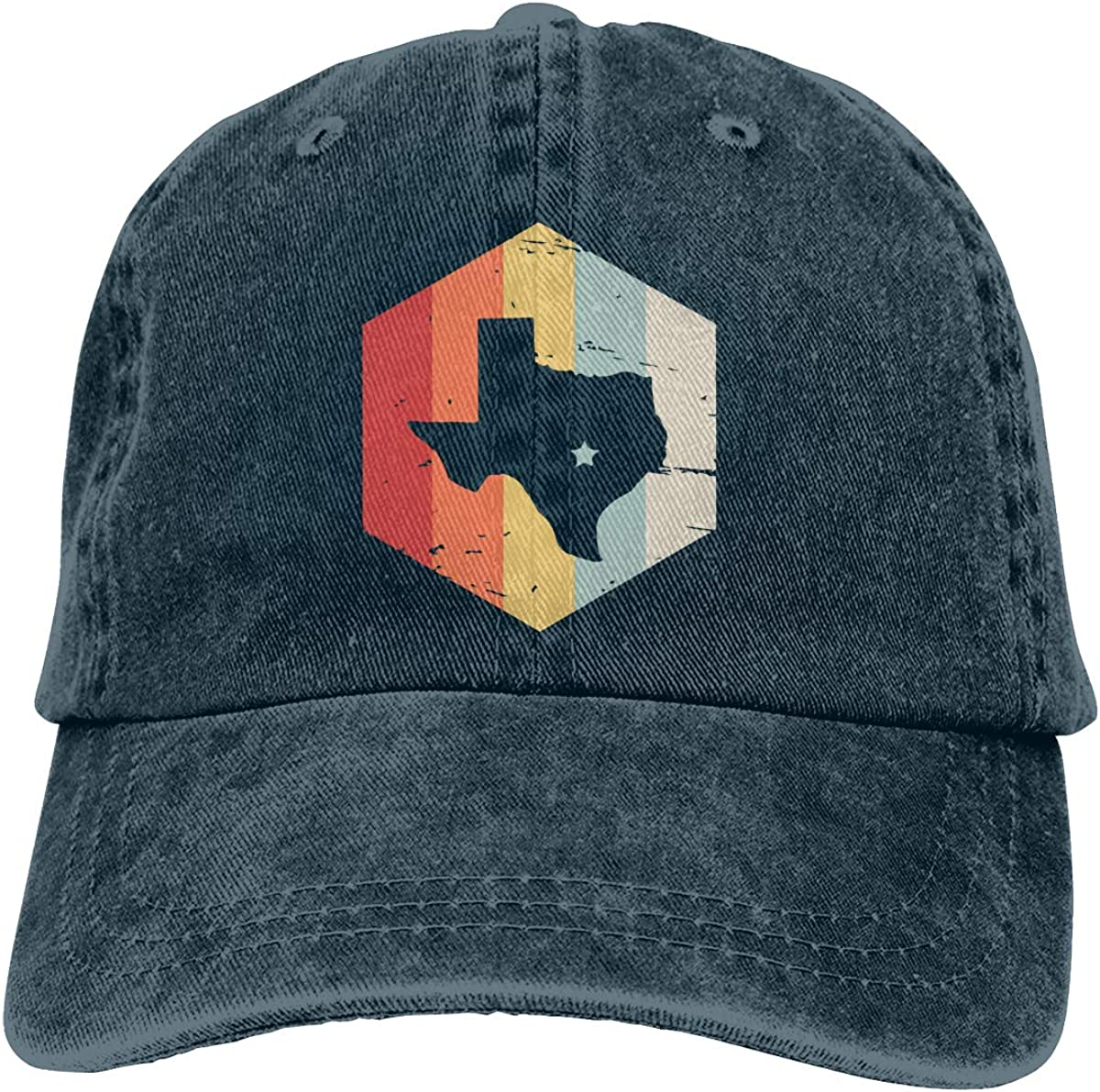 Men Women Vintage Denim Jeans Baseball Cap Retro Vintage Texas Headwear
