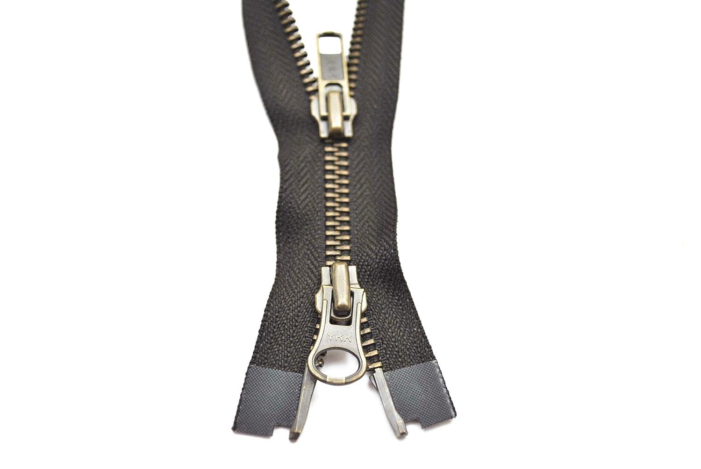 YKK Reißverschluss 2 Wege teilbar 5mm schwarz 55 cm Metall Metallzähne