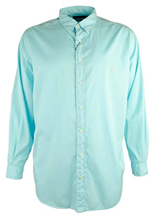 a5c9f7f5 Amazon.com: Polo Ralph Lauren Men's Big and Tall Feather Weight Twill Long  Sleeve Shirt-B-2X Blue: Polo Ralph Lauren: Clothing
