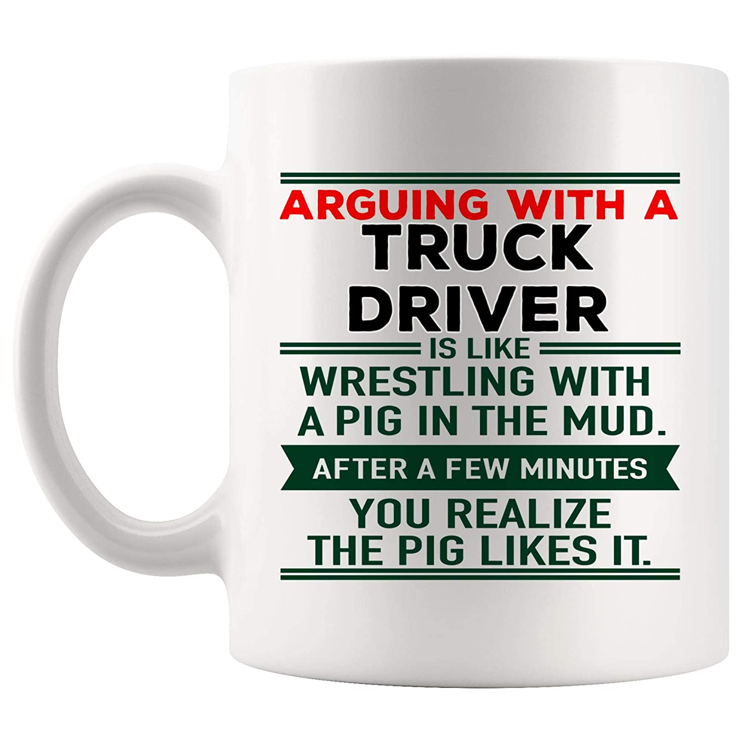 Amazoncom Arguing Truck Driver Mug Best Coffee Cup Mugs