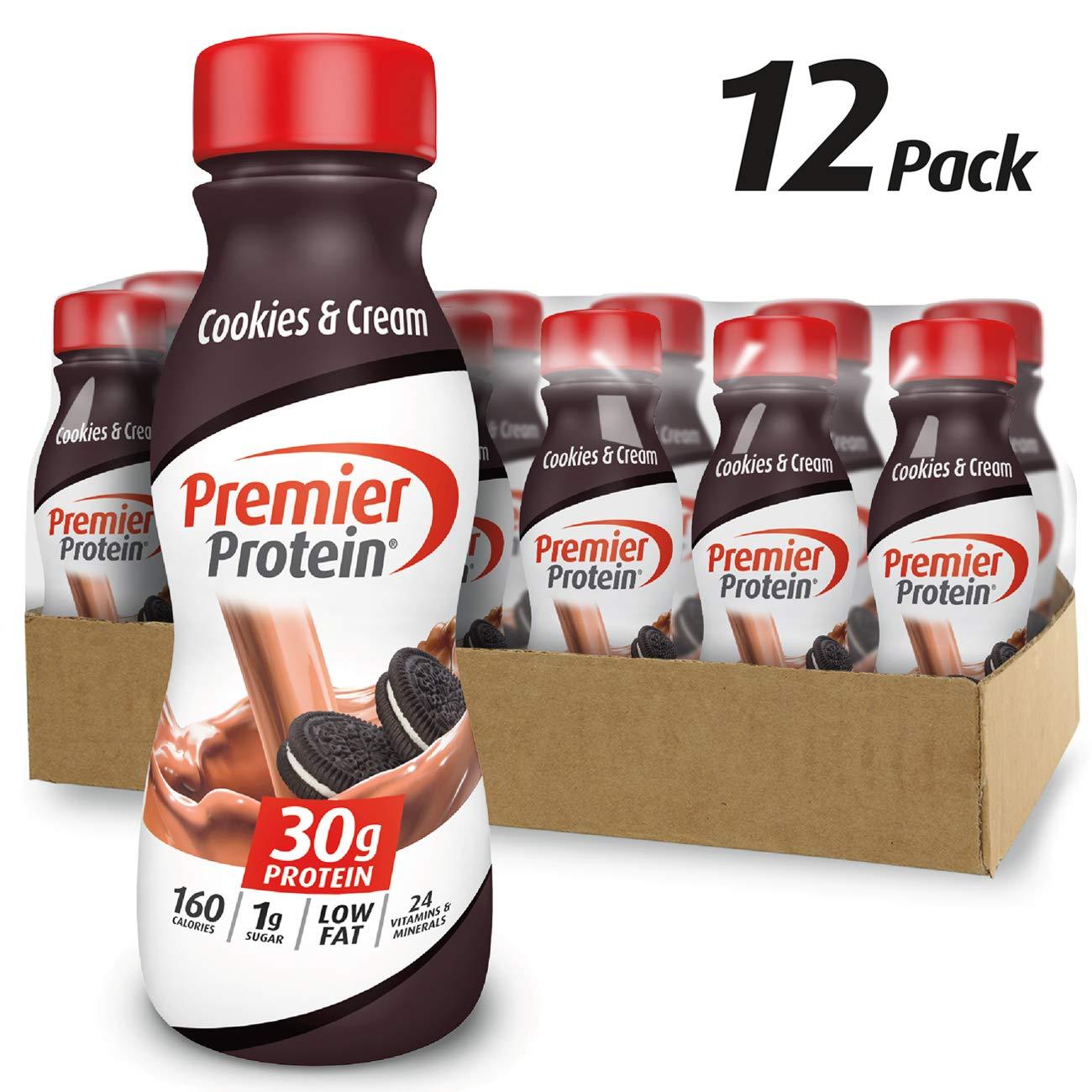 Premier Protein 30g Protein Shake, Cookies & Cream, 11.5 fl oz Shake, (12 count) by Premier Protein