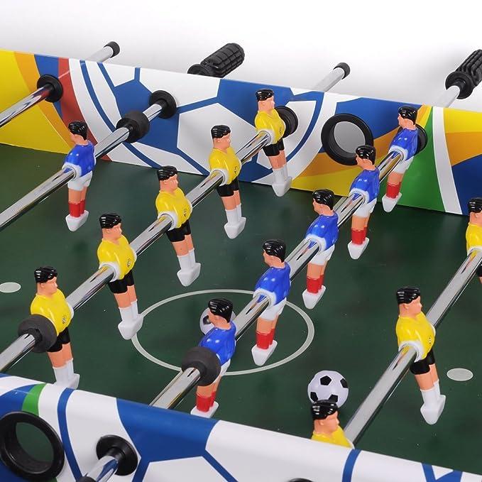 4 ft futbolín diseñado con fútbol deportes de vinilo y built-in elevador de esquina completo paquete ideal para adultos y niños Arcade Sala de juegos: Amazon.es: Deportes y aire libre