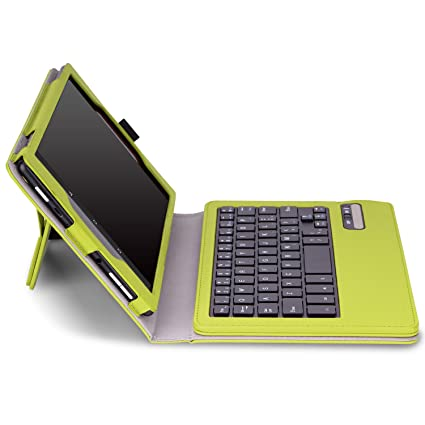 MoKo Case for Fire HD 8 2015 Keyboard - Wireless Bluetooth Keyboard Cover with Auto Wake / Sleep for Amazon Kindle Fire HD 8 Inch Display Tablet (2015 Release Only), GREEN
