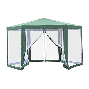 Outsunny Tonnelle Barnum Tente de réception hexagonale 10 m² Style ...