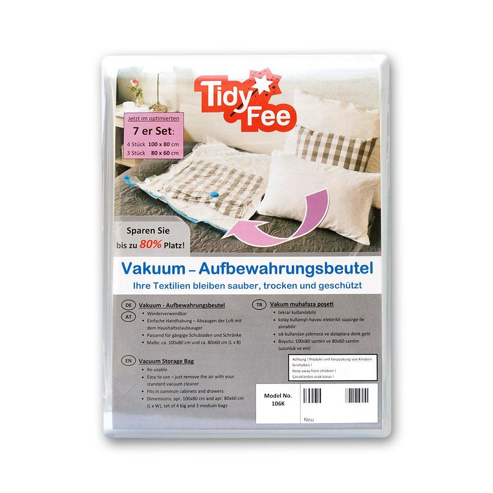 Tidy de hada vacío bolsa de almacenamiento para textiles Juego de 7 (4 unidades de 100 x 80 cm y 3 unidades de 80 x 60 cm): Amazon.es: Hogar