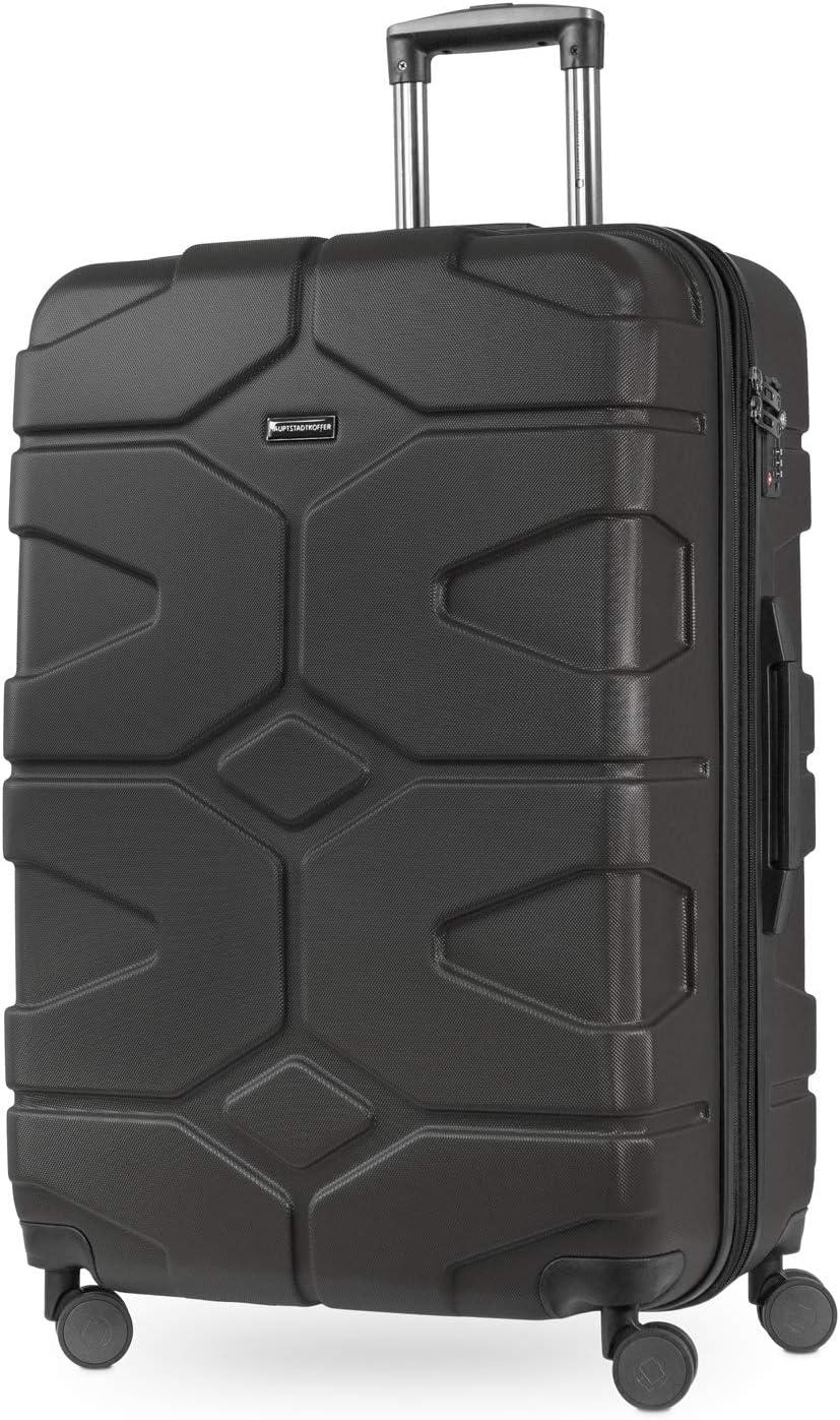 HAUPTSTADTKOFFER - X-Kölln - Maleta rígda, Trolley extensible, ABS, TSA, 76 cm, 120L, Grafito