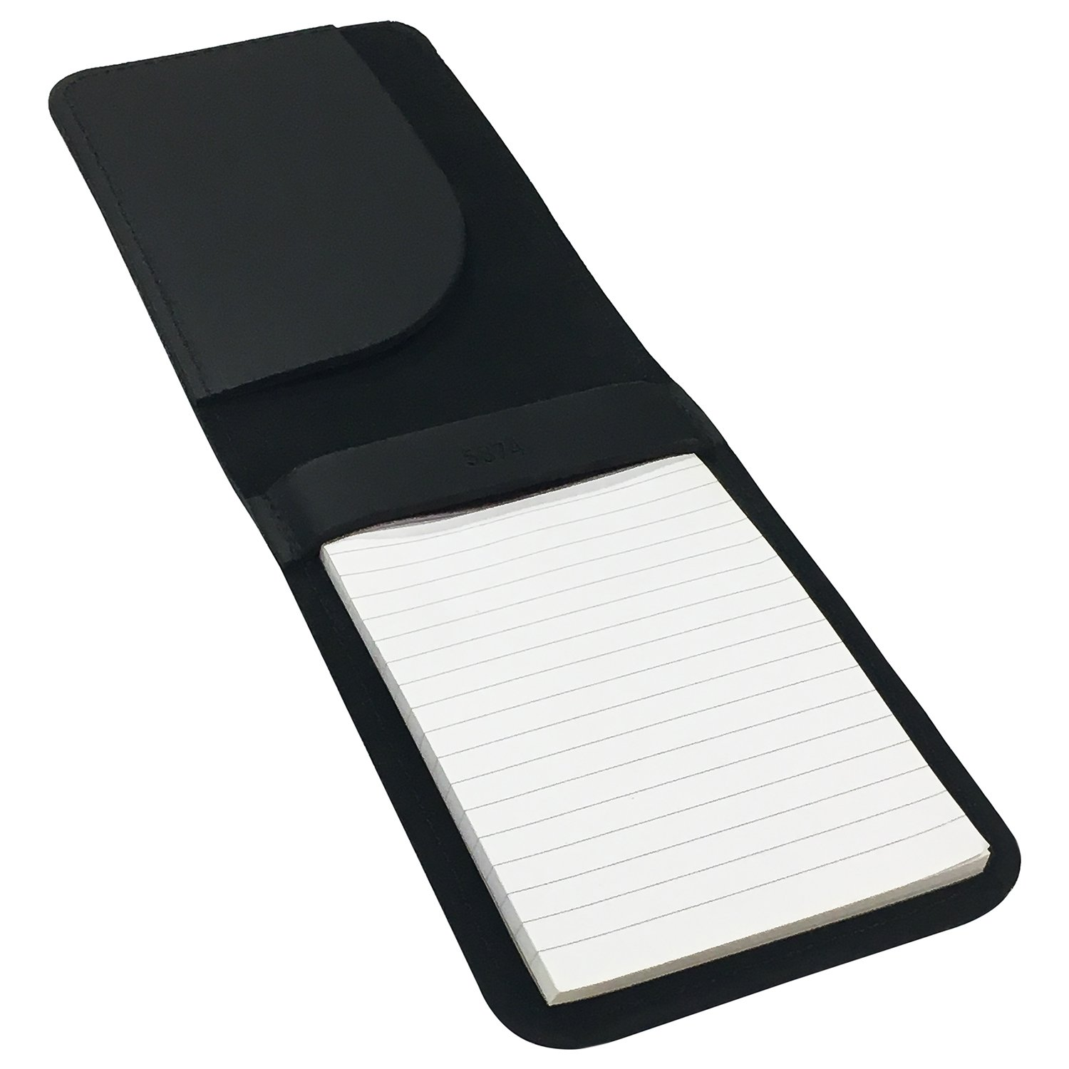 Memo Pad Cover & Holder, 3.5-Inch X 5.5-Inch Pocket Notebook, Includes One 3X5 Memo Pad by Boston Leather (Image #3)