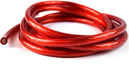 RED 4 Gauge Power Amplifier Wire  25 feet ft  4 AWG Primary Cable Guage