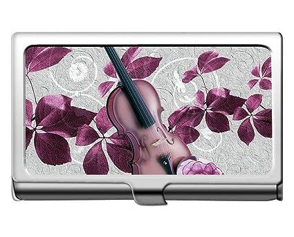 Tarjeta profesional, hojas violín rosa púrpura arte tarjeta de ...