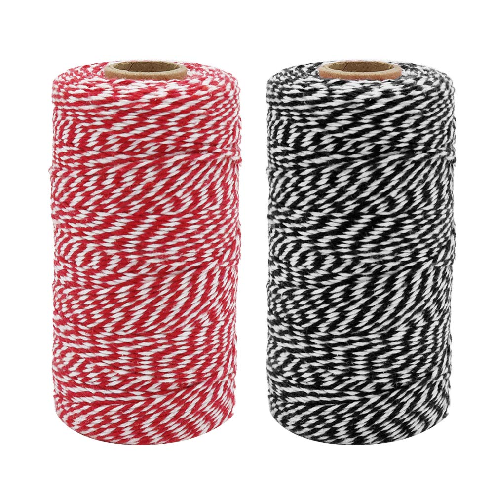 Arts and Crafts Tenn Well Cotton Bakers Twine 3 Rolls 984 Feet Cotton String Rope for Baking 328Feet // Roll Gift Wrapping
