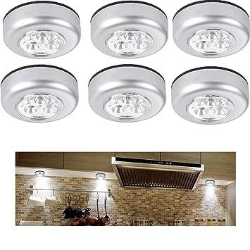 3LEDs LED Nachtlicht Batterie Klick Licht Kabinett Schrank Berührungssensor