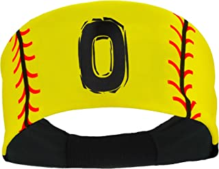 product image for MadSportsStuff Softball Headband for Girls with Jersey Number (Numbers 00-39)