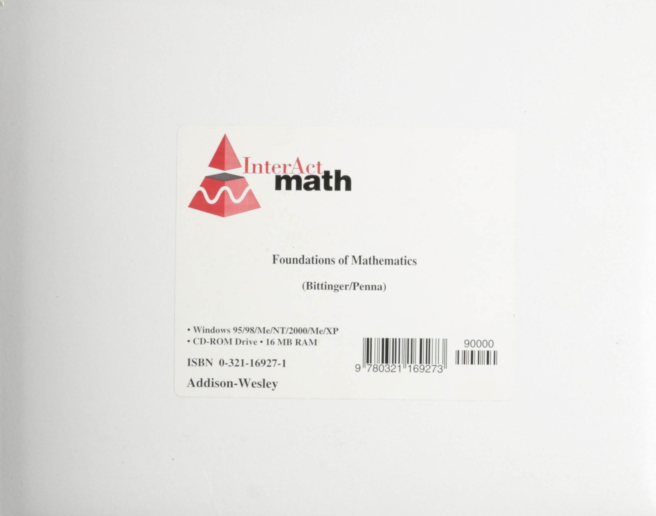Foundations of Mathematics: Marvin L. Bittinger: 9780321169273 ...
