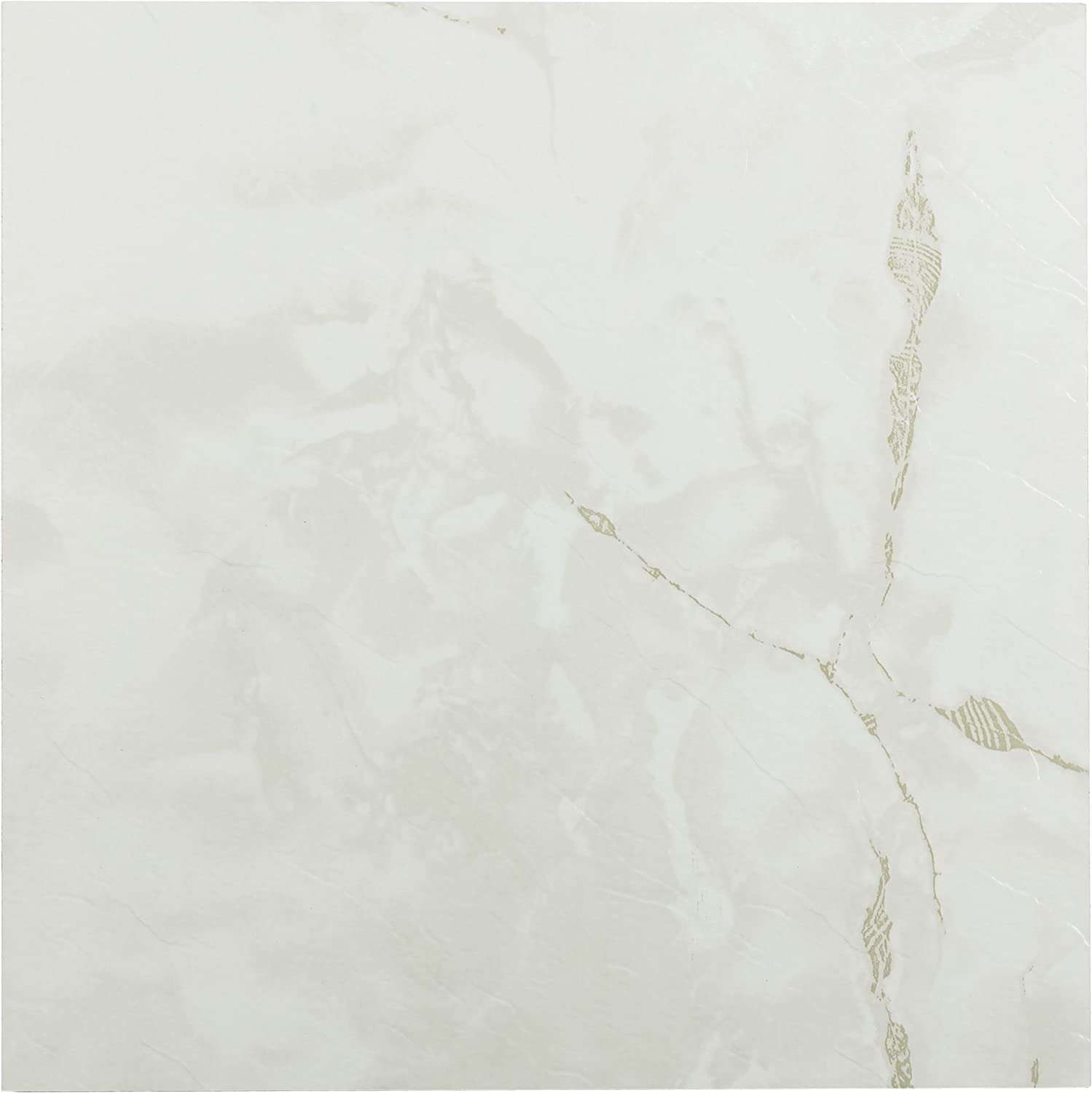 Achim Home Furnishings FTVMA40220 Nexus 12-Inch Vinyl Tile, Marble Classic White with Grey Veins, 20-Pack