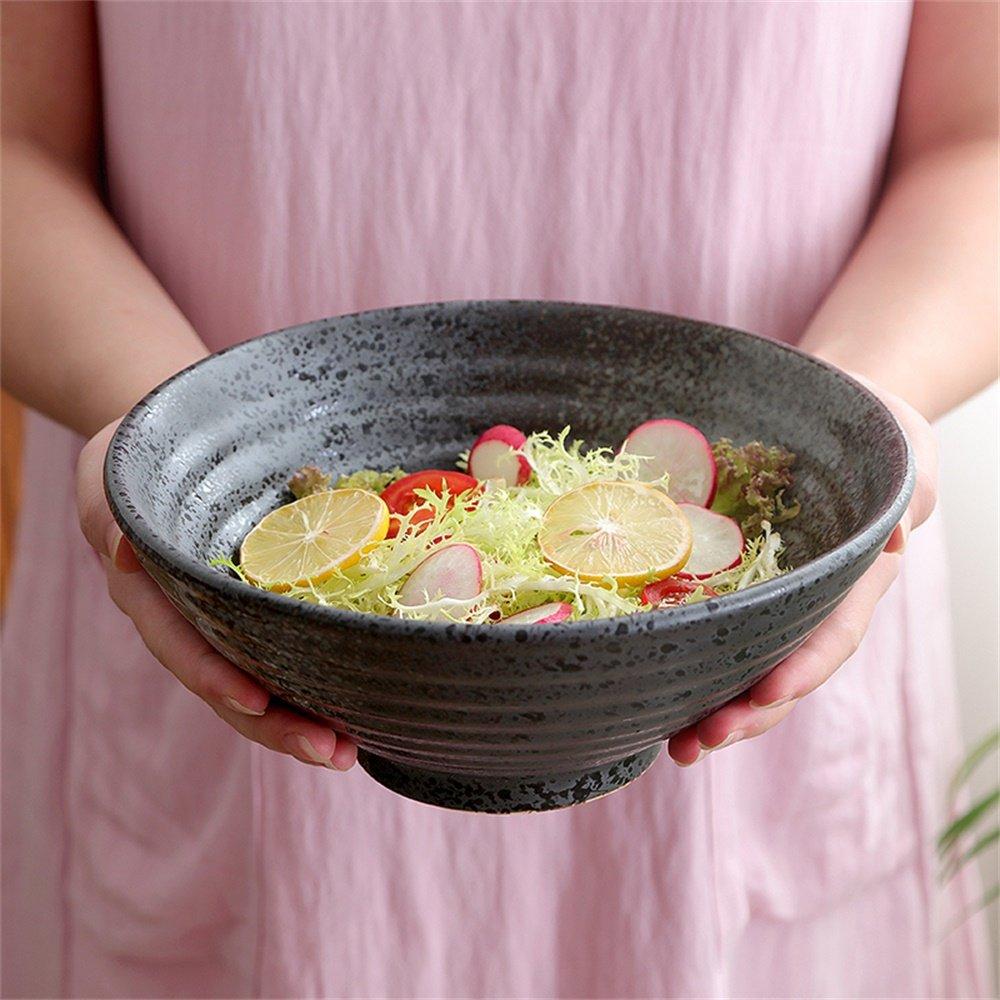 YINUO Cerámica Gran Sopa Ramen Noodles Ensalada de Frutas Pasta ...