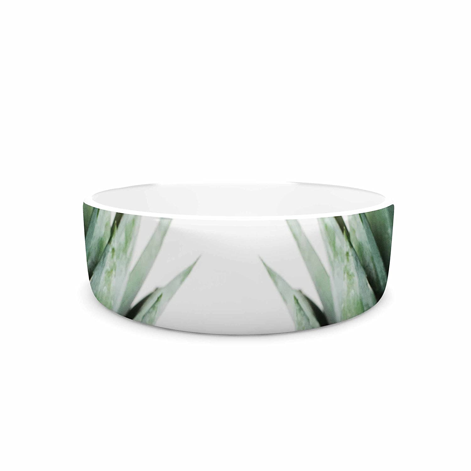 7\ KESS InHouse Chelsea Victoria Two Pineapples  Green gold Pet Bowl, 7