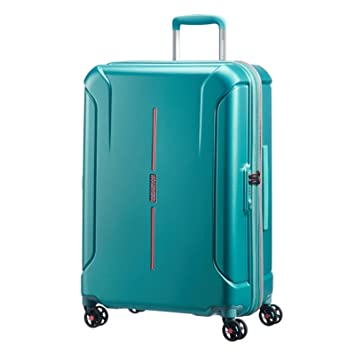 6df412ca8a Amazon.com | American Tourister Technum Spinner Hardside 20, Jade Green |  Suitcases