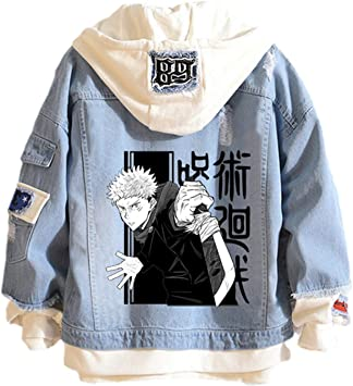 キーチェーンアニメのジャケットが付いているジュジュンアニメのジャケット女性男性のための長袖スポーツウェア
