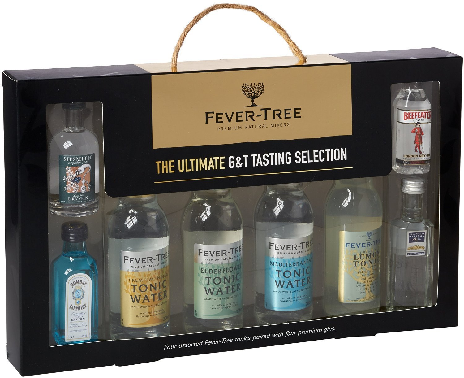 fever tree ultimate gin and tonic collection set of 8 bottles