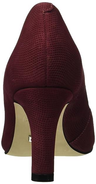 Buffalo Zs 6061-15 Nobuck Pointed, Escarpins Bout Fermé Femme, Rouge (Cardovan 01), 39 EU