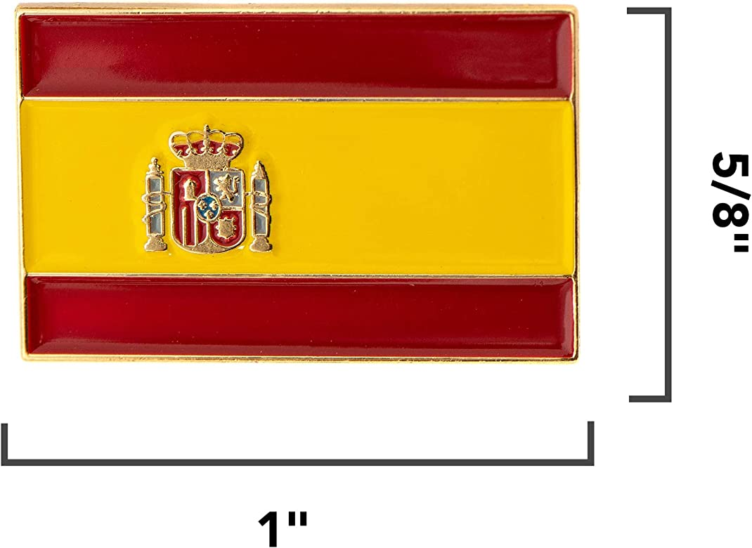 Desert Cactus Bandera de España Rectangular Pin Esmalte de Solapa ...