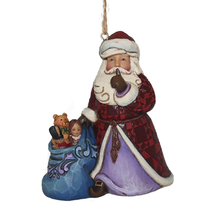 Jim Shore for Enesco Heartwood Creek Santa with Toy Bag Ornament 3.6 3.6 Enesco Gift 4049405