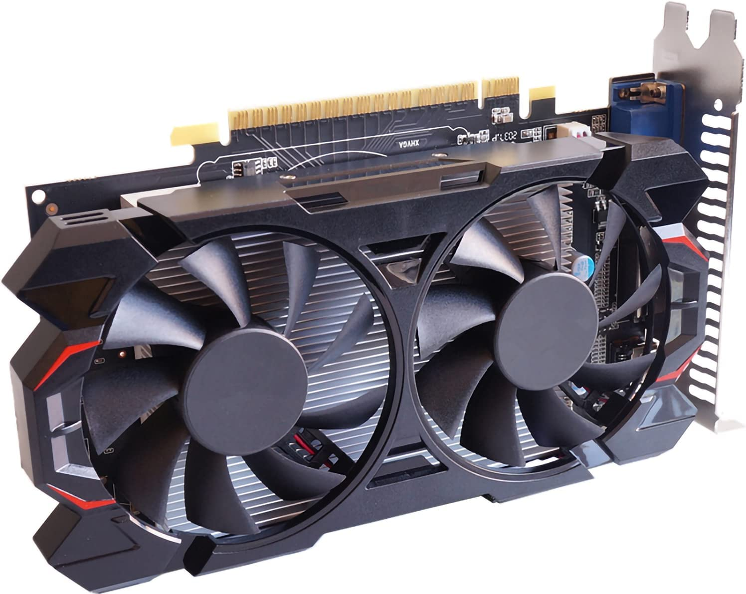 Computer Gaming Graphic Card GeForce GTX 1050 Ti 4GB GDDR5 128-Bit for PC,GTX 1050Ti 4GB Video Card for PC Gaming PCI Express 3.0 16X DP, DVI, HDMI Interface with Twin Cooling Fan
