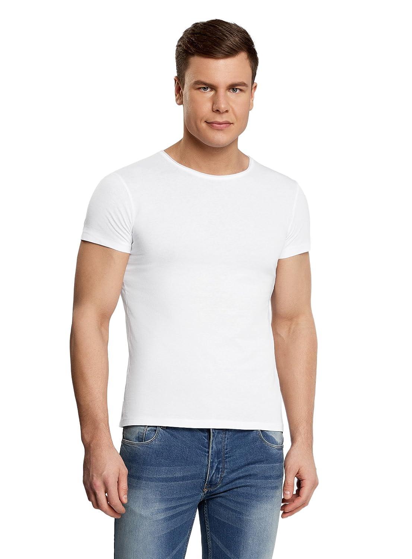 oodji Ultra Uomo T-Shirt Dritta con Scollo Rotondo RIFICZECH s.r.o. 5L601006M