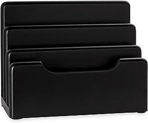 Rolodex Wood Tones Collection Desktop Sorter, Black (62525)