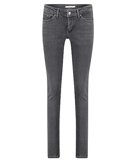 8ab8a207b2c0 Levi's 711 Skinny W Jeans Black Dove: Amazon.co.uk: Clothing