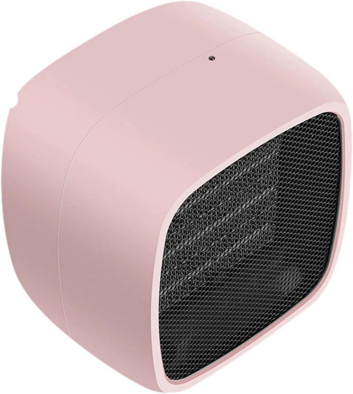 Gpure Mini Calefactor Ventilador 2 Modos Aire Caliente Bajo Consumo Eléctrico 2 s Calentamiento Rápido Silence Calefactor Colores Portátil Oficina Sobrecalentamiento Y Vuelco Protección (Rosa)