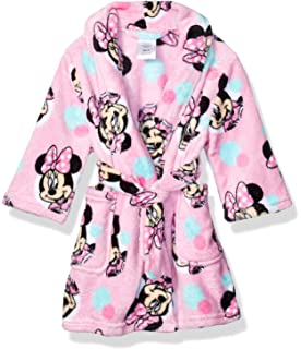 Disney Minnie Mouse Girls Trimmed Polka Plush Robe